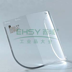 蓝鹰FC45 0.8mmPC防护面屏附铝边,透明,不含支架
