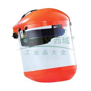 蓝鹰B2YE+FC83+C3YE头盔式防护面屏套装,含下巴防护盖(黄)