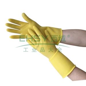 洁安康橡胶防护手套,30cm,M