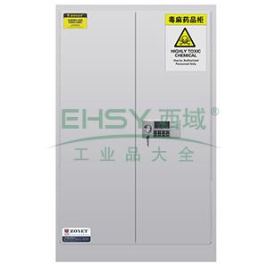 众御,毒麻药品安全存储柜-灰色60加仑,双门手动门,带密码锁,ZYC0060W