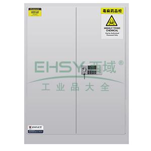 众御,毒麻药品安全存储柜-灰色90加仑,双门手动门,带密码锁ZYC0090W