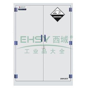 众御,腐蚀性化学品安全存储柜-瓷白色45加仑,双门手动门,ZYP0045