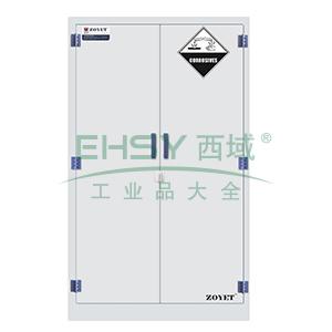 众御,腐蚀性化学品安全存储柜-瓷白色60加仑,双门手动门,ZYP0060