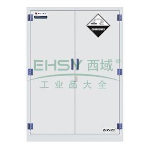 众御,腐蚀性化学品安全存储柜-瓷白色90加仑,双门手动门ZYP0090