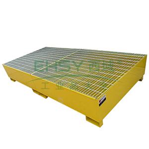 众御,IBC防钢制盛漏托盘,黄色,无支架,单吨桶,201201