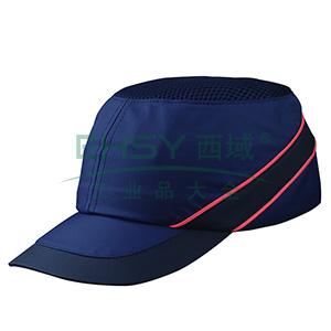 代尔塔102110 轻型透气防撞运动安全帽,蓝,帽檐7cm