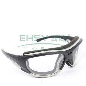 MSA 10108311 欧特-CAF防护眼镜 (黑框 防雾防紫外线透明镜片)