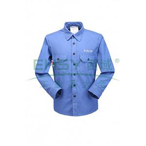 雷克兰 HRC2 级 8.9 Cal/cm2 防电弧衬衣,S,宝蓝色(DH经济面料)