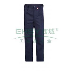 雷克兰 HRC2 级8.9 Cal/cm2 防电弧裤子,M,深蓝(DH经济面料)
