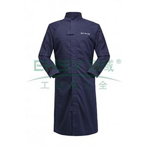 雷克兰 HRC 2级 8.9Cal/cm2 防电弧大袍,S,深蓝(DH经济面料)
