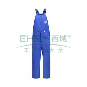 雷克兰 HRC 3级 26Cal/cm2 防电弧背带裤,蓝色,XXXL(DH经济面料)