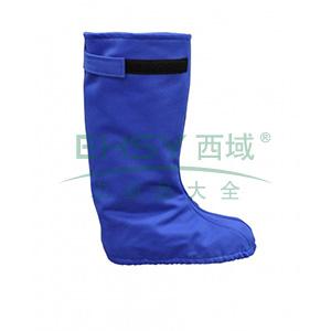 雷克兰 HRC 2级 8.9Cal/cm2 防电弧腿套,蓝色(DH经济面料)