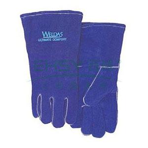 威特仕 彩蓝色常规电焊手套,10-0160-XL