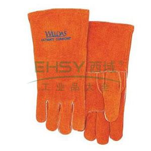 威特仕 锈橙色常规电焊手套,10-0392-L