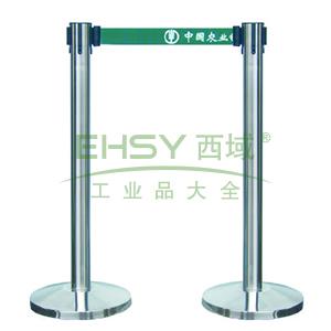 不锈钢伸缩护栏,黄色护栏带,高910mm,直径63mm