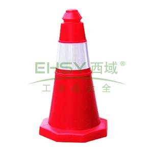 小塑料路锥:高500底260X260mm LZ004
