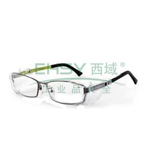 worksafe Venus E429安全近视眼镜,镜片透明,镜架光亮青铜色,尺寸53,带侧翼防护,60200266(600度以上,1000度以下建议选用)-订购前需提供验光单