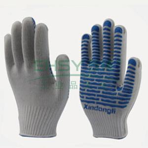 波浪纹PVC点胶防护手套,23cm