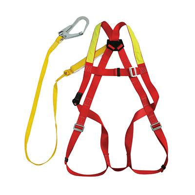 集成式全身安全带,配有缓冲系带和1个脚手架挂钩,2米