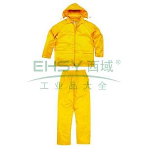 代尔塔407003涤纶雨衣套装,黄色,M