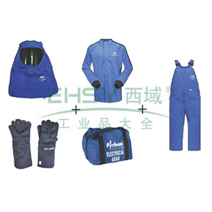 雷克兰AR48电弧防护服套装,L,蓝色