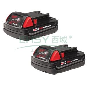 米沃奇18V锂电池,(2AH),M18 B 2