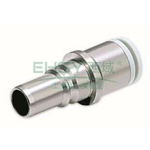 SMC带单向阀热塑直通型插头,接管外径16mm,KK6P-16H