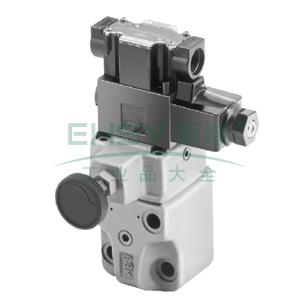 油研电磁溢流阀,最大流量100L/min,电压DC24V,BSG-03-2B3A-D24-46