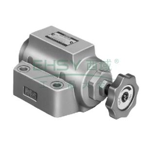 榆次油研 单向节流阀,额定流量230L/min,管式连接,SRCT-10-50