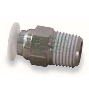 亚德客APC螺纹直通,螺纹R1/8,接管外径10mm,APC10-01