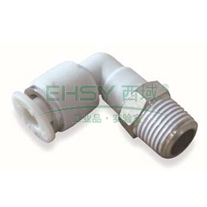 亚德客L型螺纹二通,螺纹R1/4,接管外径8mm,APL8-02