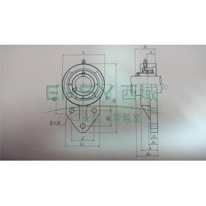 NSK带座轴承,菱型座,UCFH206D1