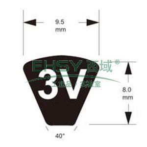 富士3V型高速防油窄V带,3V335