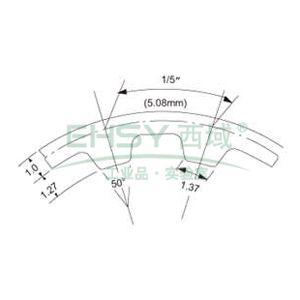 三星梯形齿同步带,橡胶材质,1英寸宽,114XL100