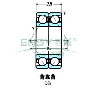 NSK成对双联角接触球轴承,7207BDB