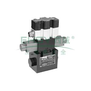 Parker,先导式比例换向阀,流量控制,内置控制器,D41FTE01FC4NF00