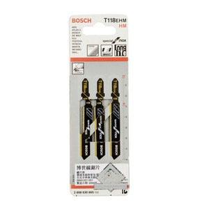 博世曲线锯锯条,(硬质合金)T118EHM(3) 3条/包,针对不锈钢,2608630665
