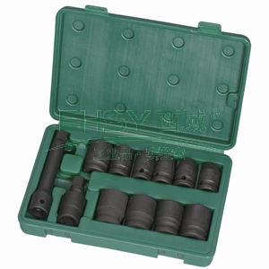 世达气动套筒组套,12.5MM系列 12件套,09009