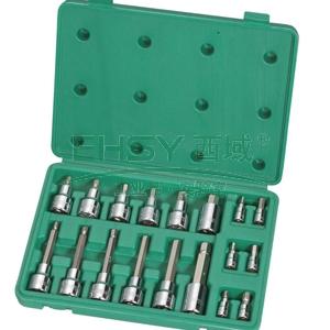 世达套筒套装,18件套6.3 X 12.5mm系列六角旋具套筒, 09053