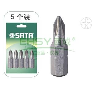 世达十字旋具头,1#,5件装6.3mm系列25mm长,59222