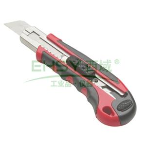 力易得美工刀,重型双色塑柄 18mm,E7017