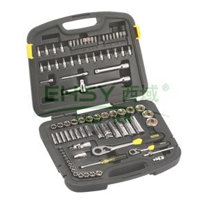 史丹利套筒套装,86件套6.3mmX12.5mm系列公制组套工具,94-190-22