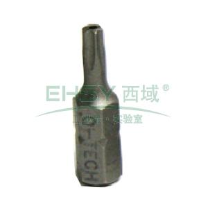 西瑞中孔星形螺丝批头,25MM T-10,50个/盒,BTT025100-B