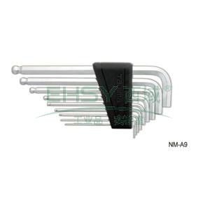 内六角扳手套装,加长型9件套装,NM-A9