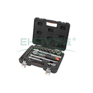 手工具套装,24件12.5MM系列公制组套,S010024
