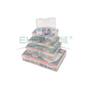 塑料零件盒,1#140X75X27MM,8格,S024011