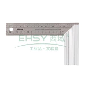 不锈钢角尺,铝合金尺座 200mm,S079007