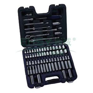 """套筒组套,蓝点 3/8""""系列公制套筒组套,77件,BLPATSM3877"""