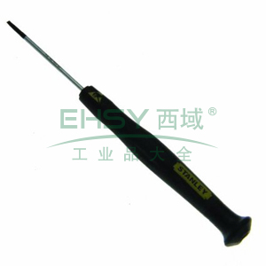史丹利 一字微型防静电螺丝批1.6x45mm,66-402-23