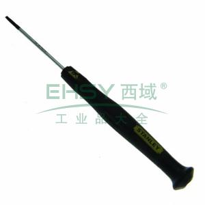 史丹利 一字微型防静电螺丝批1.8x45mm,66-403-23